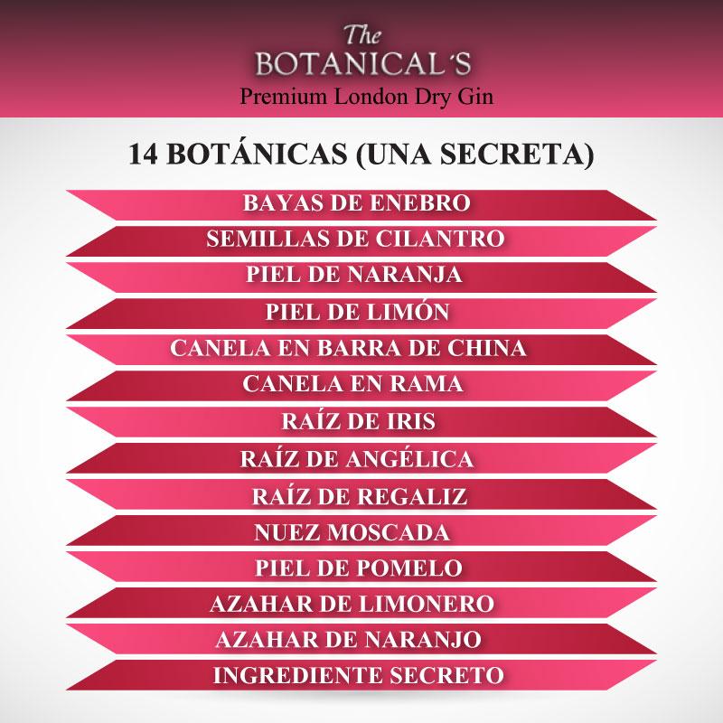 infografía-The-Botanical's-Premium-London-dry-Gin