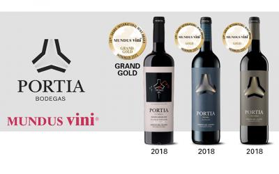 Bodegas Portia galardonada con 3 premios Mundus Vini